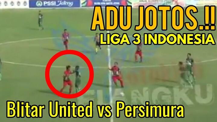 Parah!! Adu Jotos!! Liga 3 Indonesia (LIHAT NO 9 BAJU IJO)