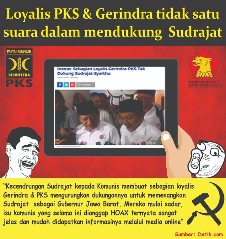 Loyalis PKS & Gerindra Tidak Satu Suara Dalam Mendukung Sudrajat