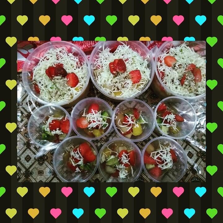 Cara membuat salad buah