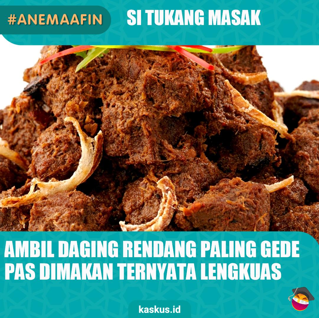 #AneMaafin Si Tukang Masak
