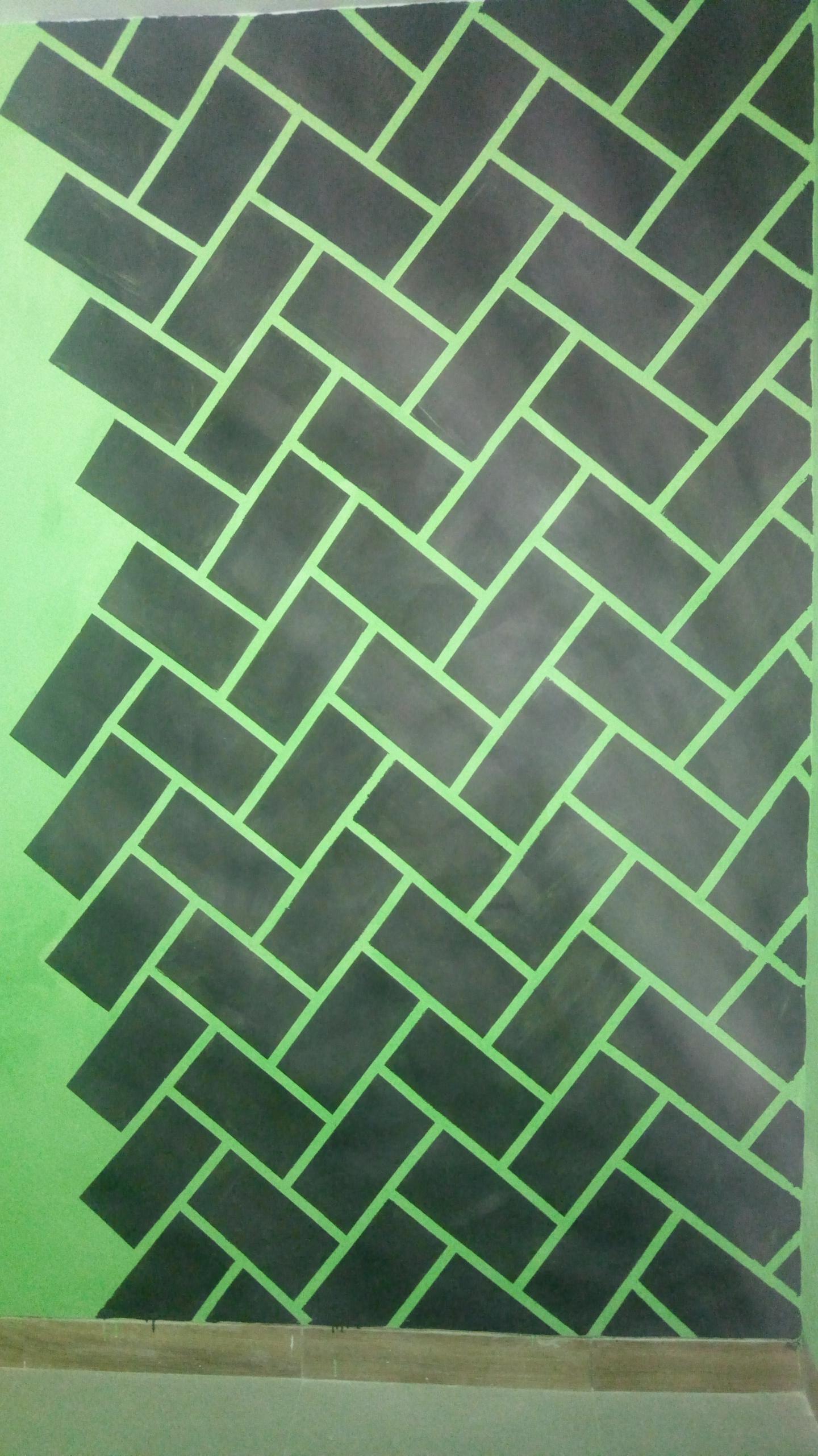 gambar cat tembok bentuk motif batu bata kaskus desain dinding