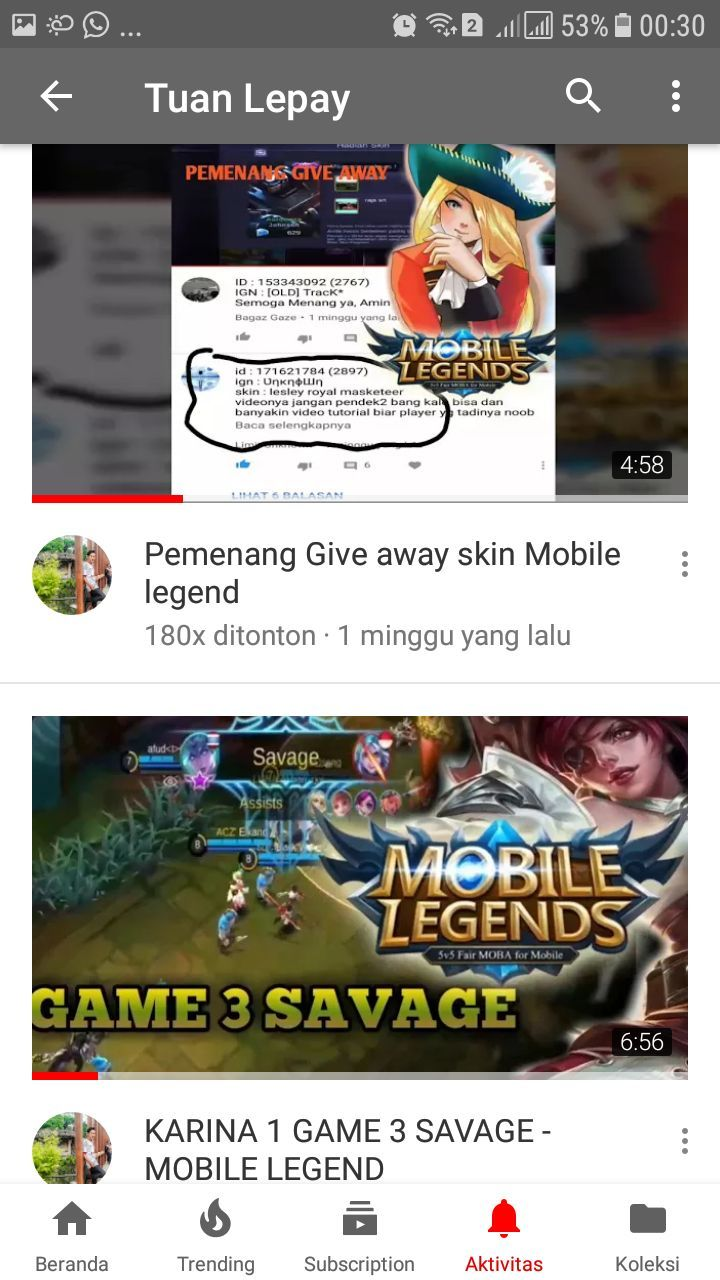Wow GiveAway Skin epic Mobile legends