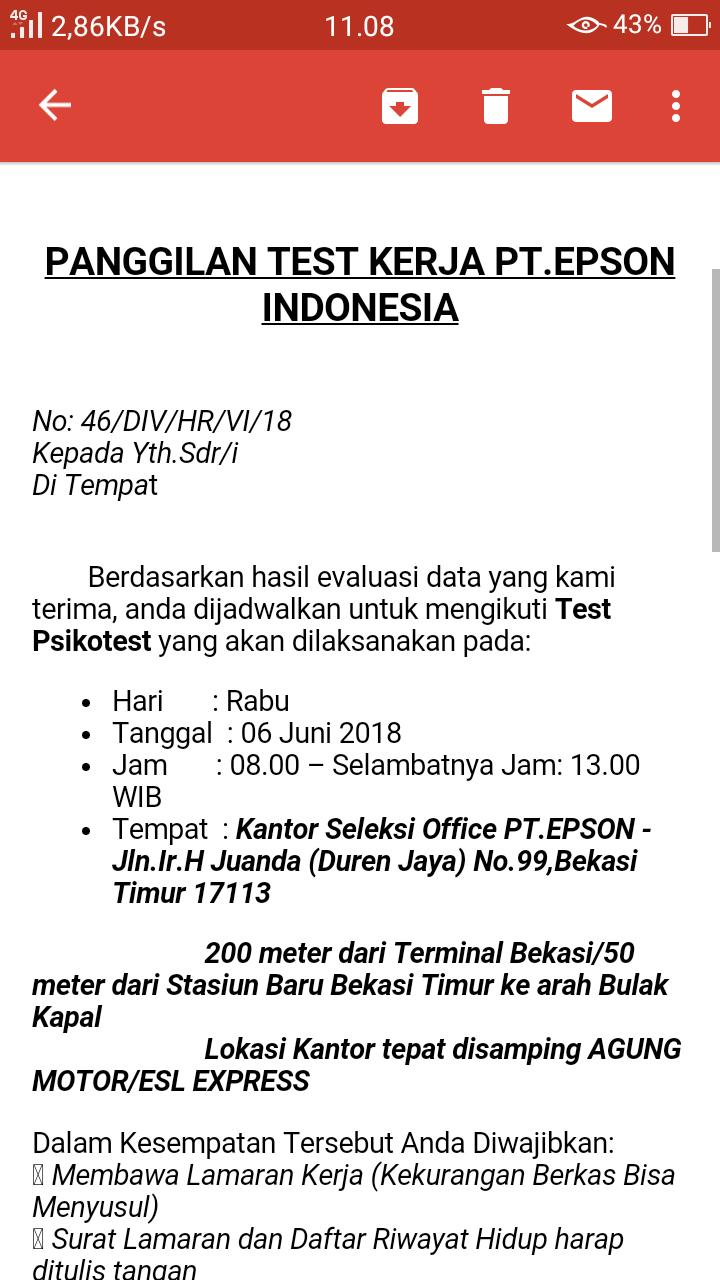 Mohon Infonya Alamat Ini Benar Kantor Pt Epson Indonesia
