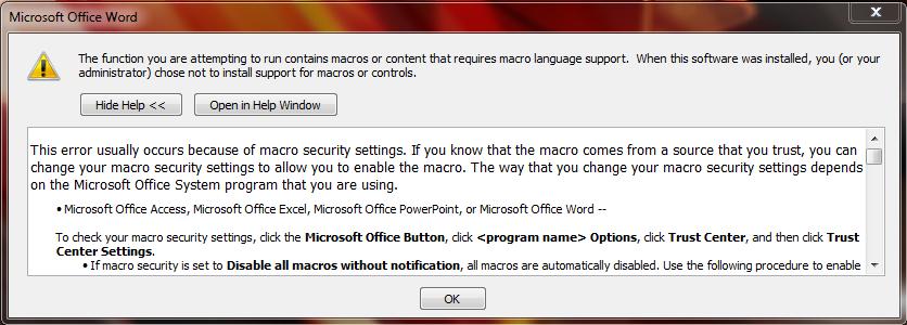 Error saat membuka Office word 2007
