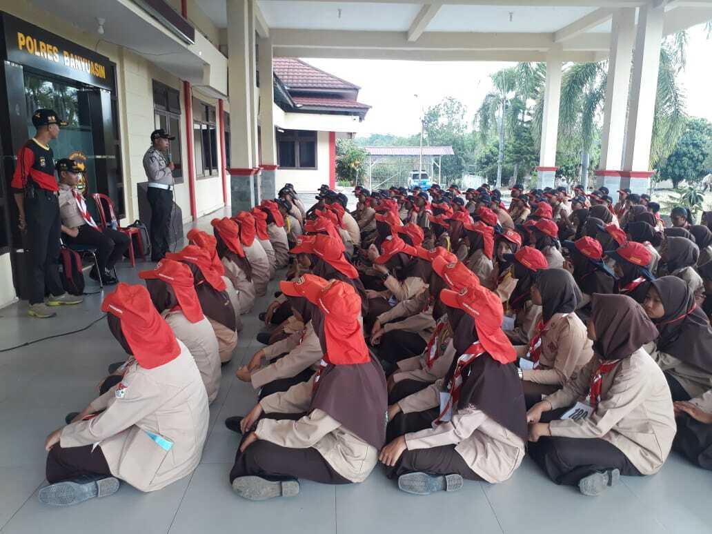 145 Peserta Pramuka Ikut Pembinaan di Polres Banyuasin