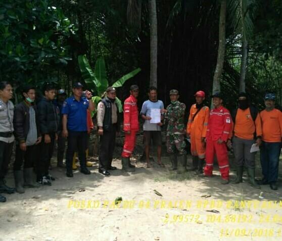 Tim Karhutla Posko 4 Patroli Terpadu di Desa Sri Menanti