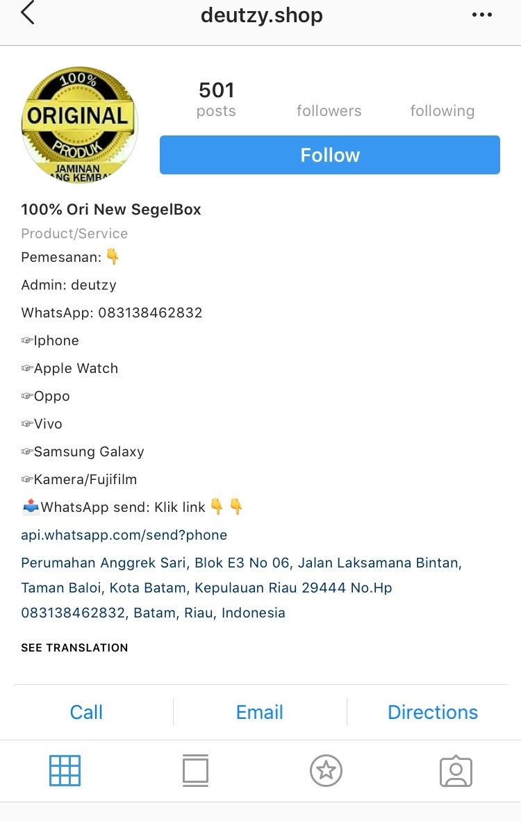 IG Tukang TIPU, bantu report dong agam2