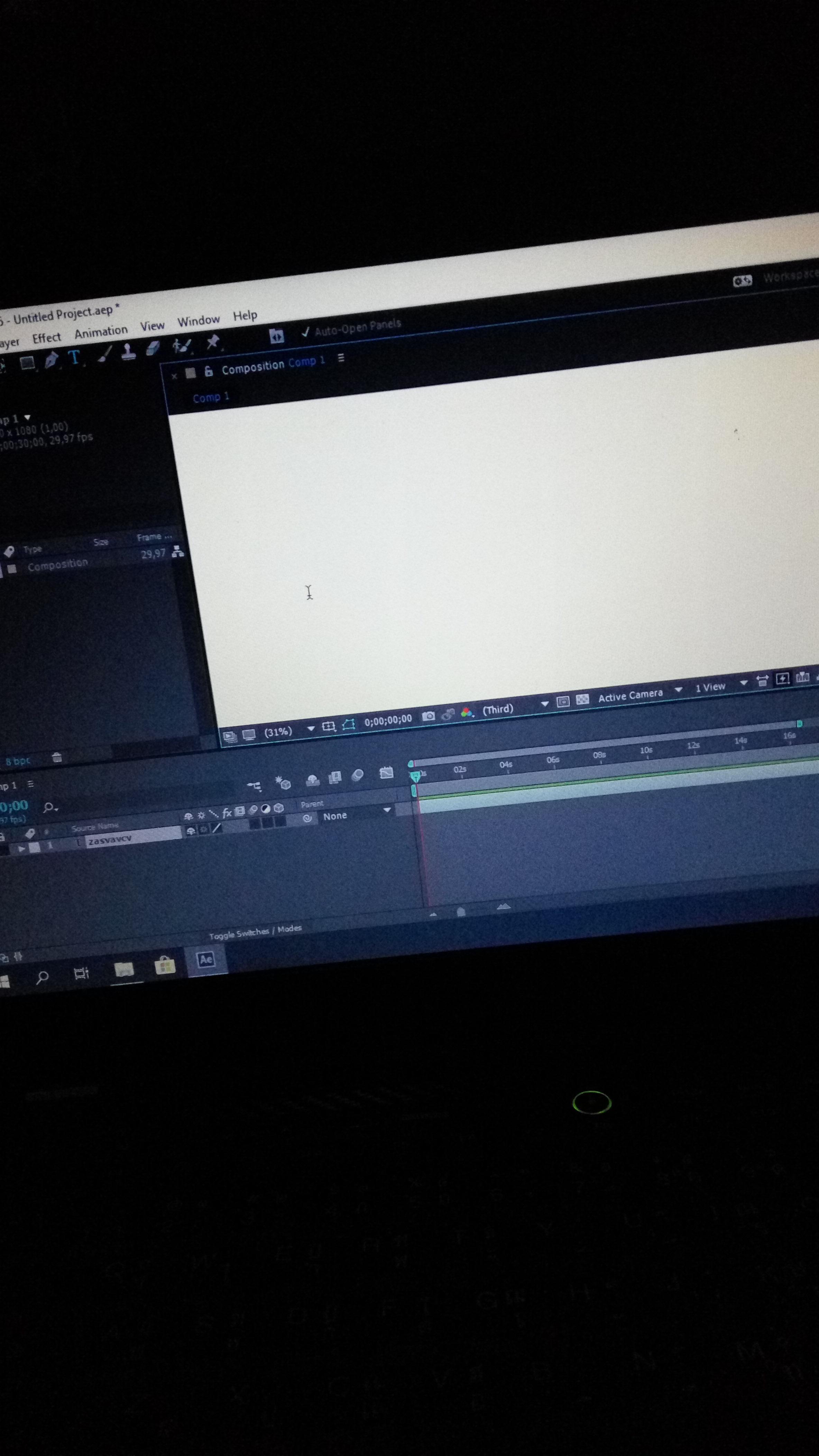 Adobe after effectt blank putih