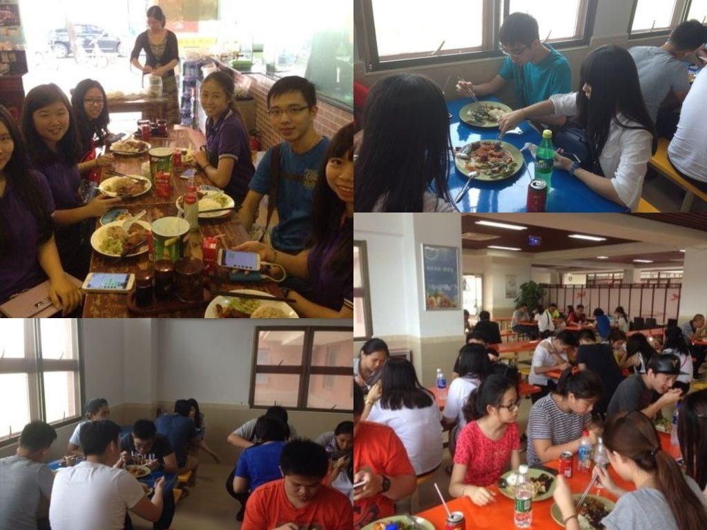makan siang di kantin kampus