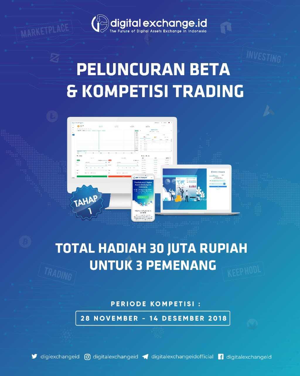 Peluncuran Beta Tahap 1 & Kompetisi Trading digitalexchange.id