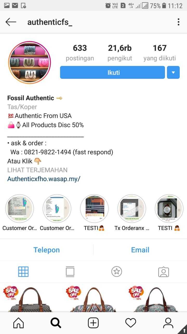 Penipuan Online Instagram Authenticfs Kaskus