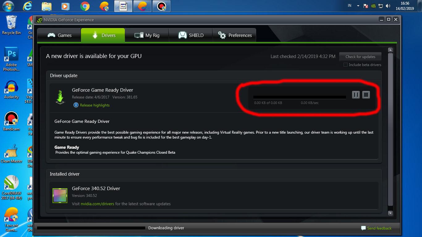 Kok nggak bisa download geforce game ready driver stuck di 0.00KB